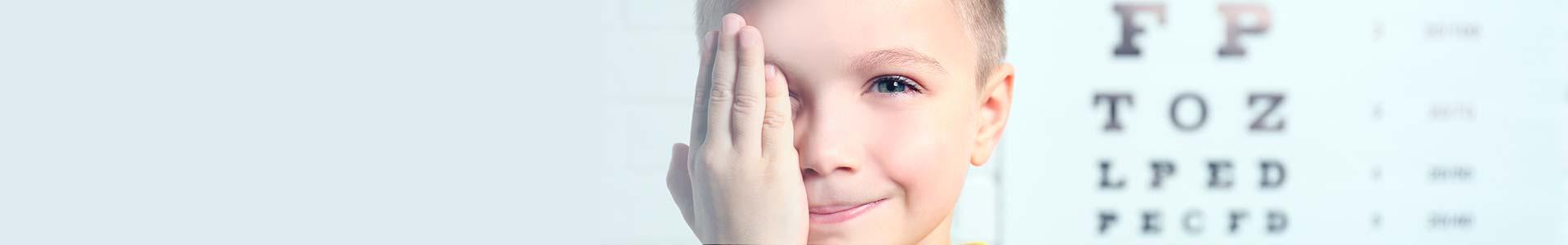 examen visual para niños